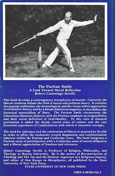 The Puritan Smile, back cover
