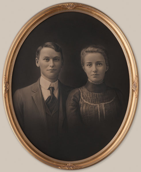 Charles Cummings with Lucy Borlin, 1902