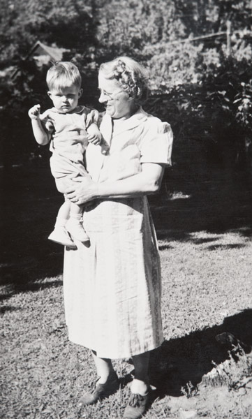 Lucy Borlin Cummings/Angle with her 14 month grandson, Bobby.